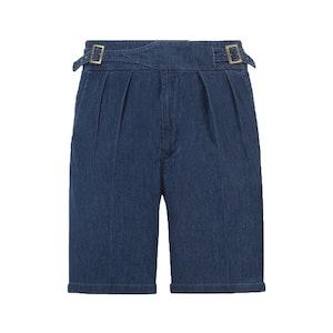 Blue Denim Manny Cotton Shorts