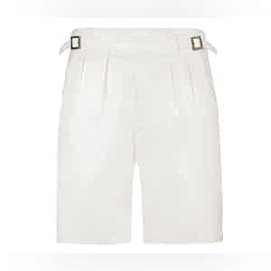 White Manny Cotton Shorts
