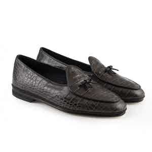 Chocolate Brown Marphy Leather Loafers