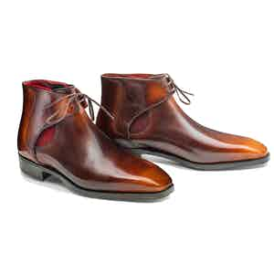 Red Brown Calf Leather Decon Chelsea Boot