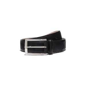 Black Leather Cintura Nera Classica Belt