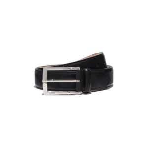 Black Leather Cintura Nera Classica Belt