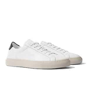 White Leather Cosmo Nero Sneakers