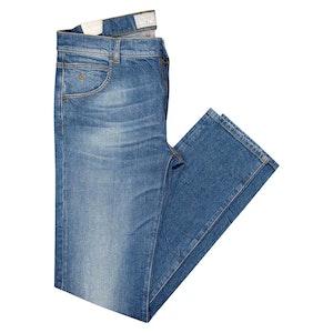 Light Blue Aloi Straight-Leg Stretch Jeans