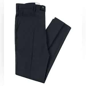 Smart  Navy Virgin Wool Stretch Boris Chino Trousers