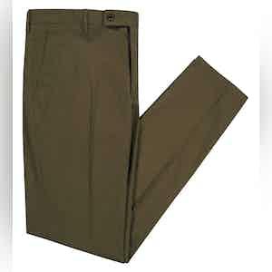 Smart Green Stretch Slim Boris Chino Trousers