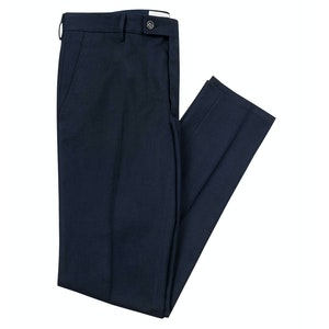 Smart Navy Cotton Boris Chino Trousers