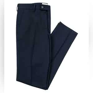 Smart Navy Cotton Boris Chino Trousers