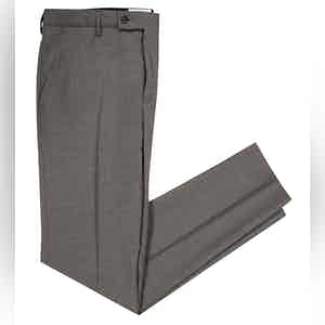 Smart Grey Virgin Wool Boris Chino Trousers