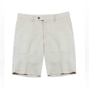 Beige Bazile Linen-Blend Tailored Shorts