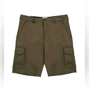 Dark Olive Cleman Green Shorts With Side Pockets
