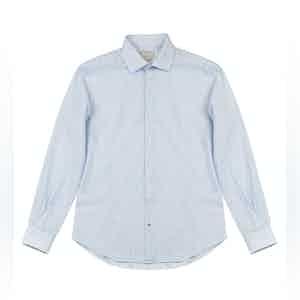 Blue-Striped Clamenc Linen-Blend Shirt