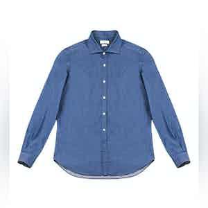 Ocean Blue Clodoveu Denim Shirt
