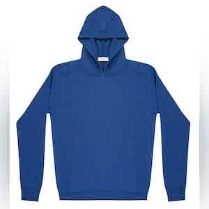 Midnight Blue Lesien Compact Cotton Hooded Jumper