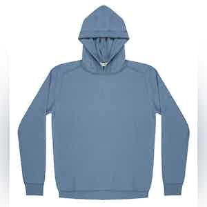 Light Blue Lesien Compact Cotton Hooded Jumper