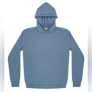 Light Blue Lesien Compact Cotton Hooded Jumper