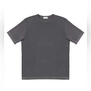 Mud Grey Malten Compact Cotton T-Shirt