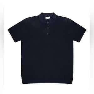 Dark Blue Mate Compact Cotton Polo Shirt