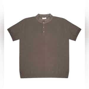 Sandy Grey Mate Compact Cotton Polo Shirt