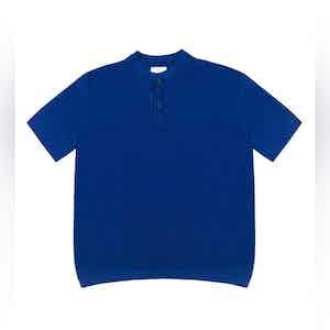 Bright Blue Mate Compact Cotton Polo Shirt