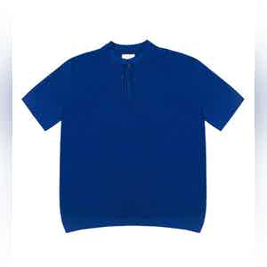 Bright Blue Mate Compact Cotton Polo Shirt