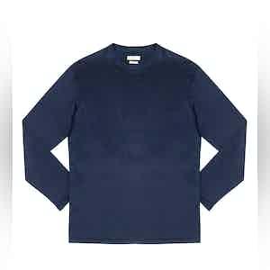 Ocean Blue Elie Cotton Long-Sleeved T-Shirt