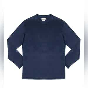 Ocean Blue Elie Cotton Long-Sleeved T-Shirt