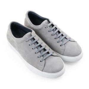 Stone Grey Semeon Nubuck Leather Sneakers