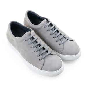 Stone Grey Semeon Nubuck Leather Sneakers