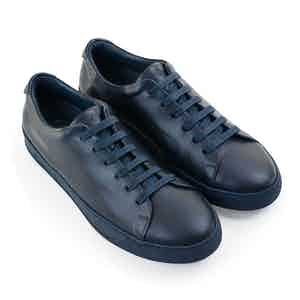 Dark Blue Toubie Leather Sneakers