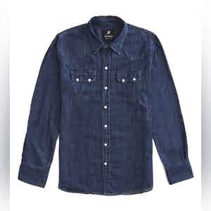 FDP Dark Denim Western Shirt