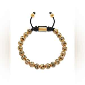 Beaded Bracelet with Indian Gold Cairo Beads