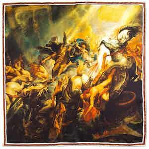 The Fall of Phaeton Printed Silk Pocket Square