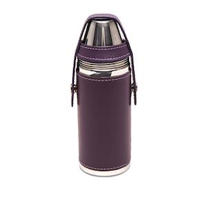 Purple Sterling 8oz Flask