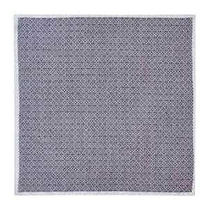 Navy and White Cotton Mosaic Neckerchief