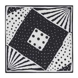 Black Silk Multi-Spot Pocket Square