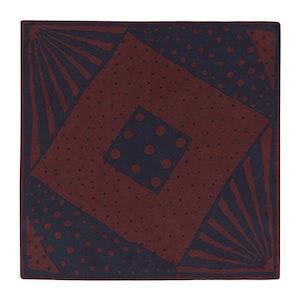 Wine Silk Multi-Spot Pocket Square