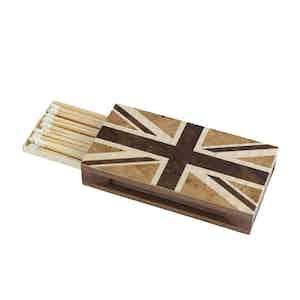 Walnut Union Flag Matchbox Sleeve