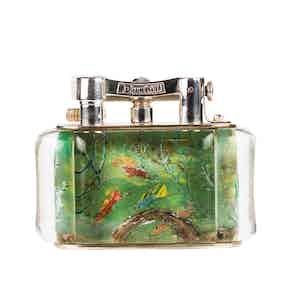 Vintage Silver-Plated Dunhill Bright Fish Aquarium Lighter
