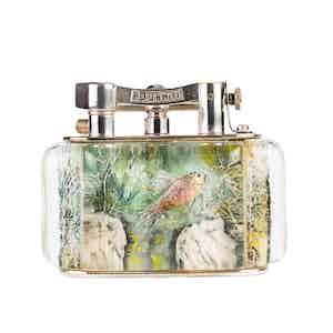 Vintage Silver-Plated Dunhill Three Fish Aquarium Lighter