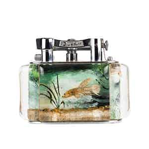 Vintage Chrome-Plated Dunhill Catfish Aquarium Lighter