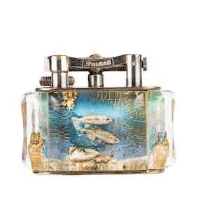 Vintage Silver-Plated Dunhill Jawbone Aquarium Lighter
