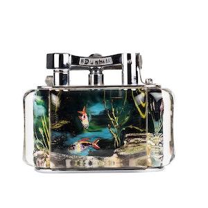 Vintage Chrome-Plated Dark Water Dunhill Aquarium Lighter