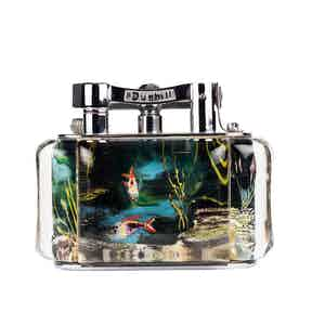 Vintage Chrome-Plated Dark Water Dunhill Aquarium Lighter