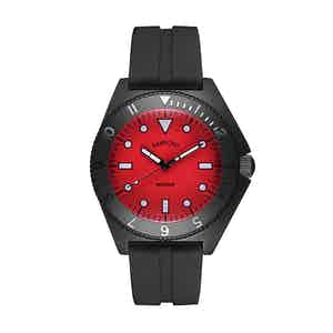 Black and Red Steel Mayfair Watch