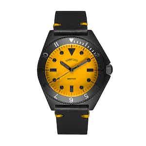Matte Black and Yellow Steel Mayfair Watch