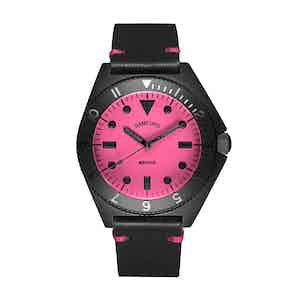 Matte Black and Pink Steel Mayfair Watch