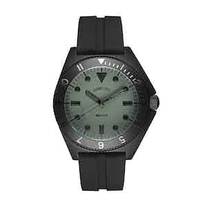 Black and Khaki Steel Mayfair Watch