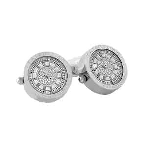 Rhodium-plated Watch Cufflinks