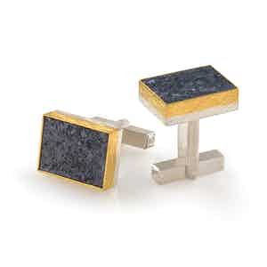 24ct Gold, Sterling Silver and Silicium Cufflinks